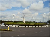 SE5209 : Sculpture on Roundabout, Red House Interchange by Bill Henderson