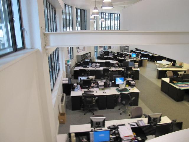 Battleship Building, ground floor office area