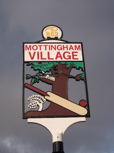 Close-up of Mottingham Village Sign