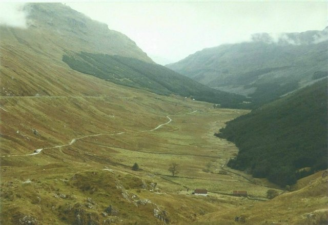 View of Glen Croe from A828 in 1984