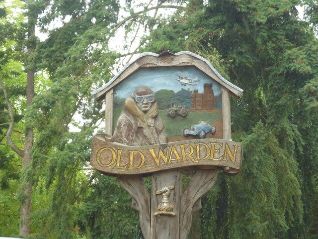 Old Warden Village Sign