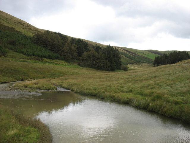 The upper River Wye (Afon Gwy)