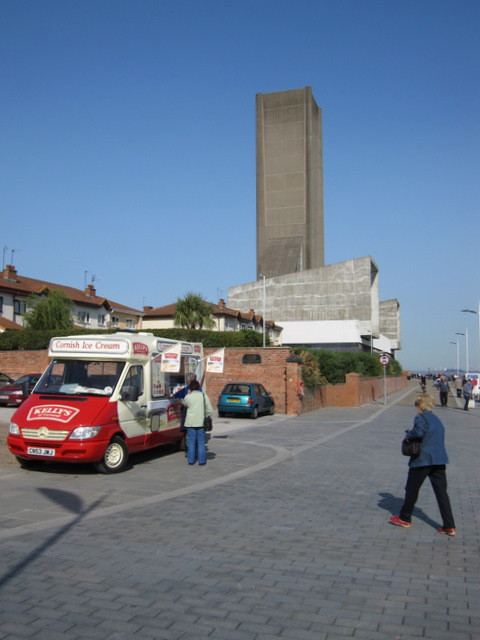 Going for an ice cream on Seacombe Promenade