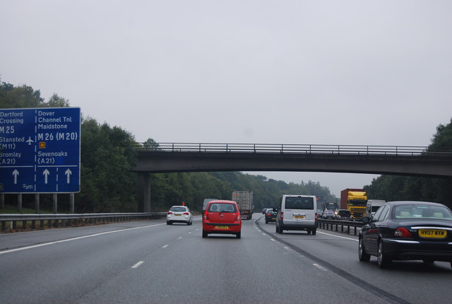 Brastead Hill Bridge, M25