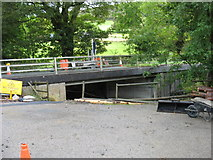 SN8482 : Pont Rhydgaled under repair by David Purchase