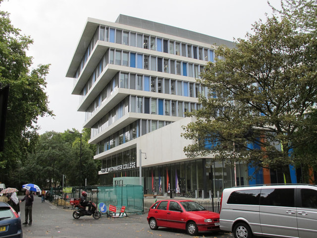 City of Westminster College - overhanging facade