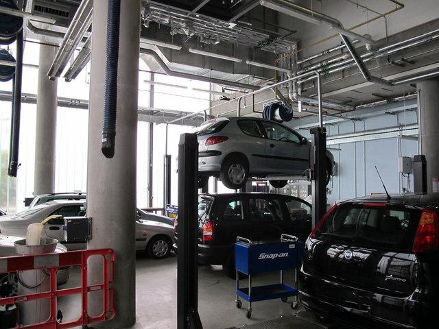 City of Westminster College - car maintenance workshop
