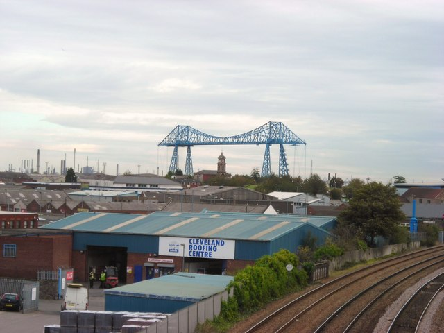Middlesbrough railway, industry and skyline