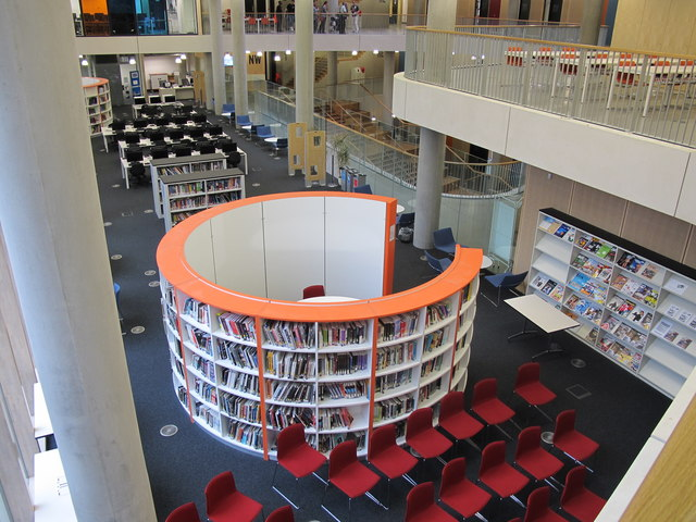 City of Westminster College - learning resource centre from above