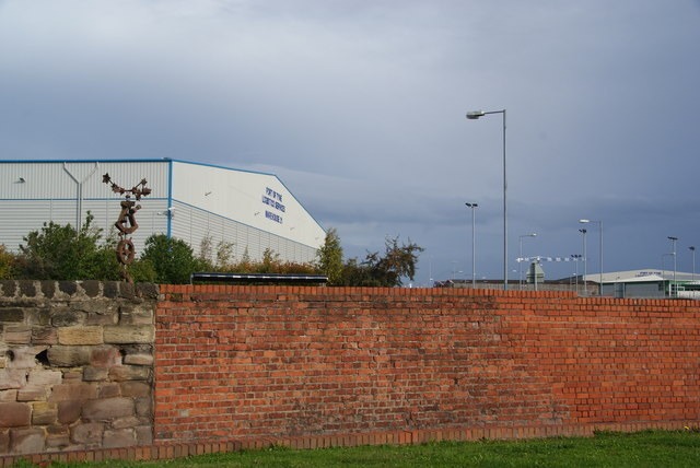 The wall of Tyne Dock from Jarrow Road