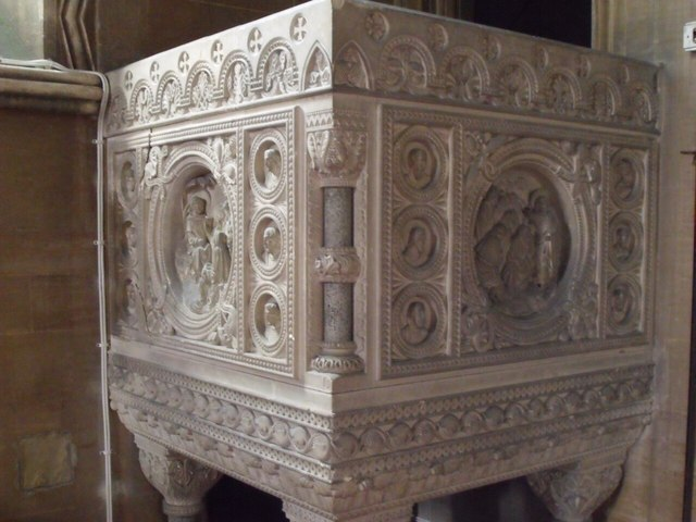 Carved Pulpit, St Helen's Church, Thorney