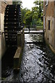 TQ2668 : Preserved waterwheel, Snuff Mill, River Wandle, Morden Hall Park by Christopher Hilton