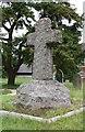 SP8619 : St Peter & St Paul, Wingrave  - Churchyard cross by John Salmon