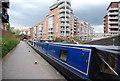 SP0586 : Narrowboat, Birmingham Canal by N Chadwick
