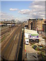 TQ2876 : Railway lines into London Waterloo, from a train heading out of London Victoria by Christopher Hilton