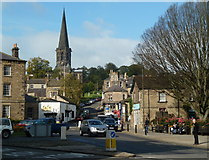 SK2168 : Town centre scene, Bakewell by Andrew Hill