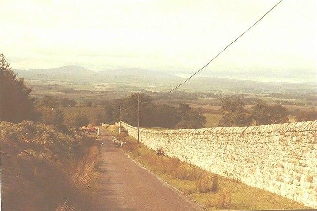 Lane descending towards Hepburn in 1984