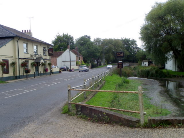 River Ebble and A354, Coombe Bissett (1/4)