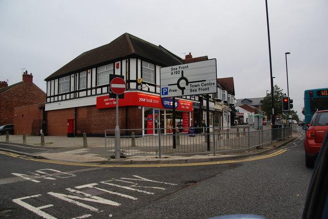 Row of shops in West Monkseaton