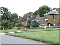 SP4147 : Goalposts, Warmington village green by nick macneill