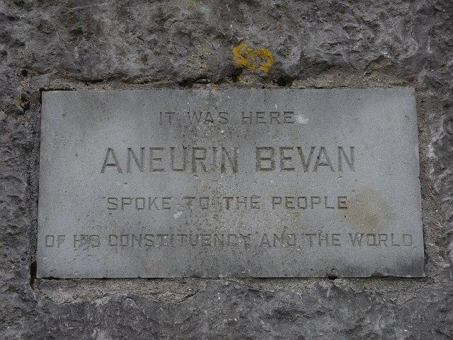 Plaque on the Aneurin Bevan Memorial