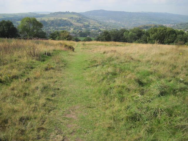 Footpath towards Tansley Knoll