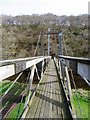 NT7562 : Footbridge over Whiteadder Water by Maigheach-gheal