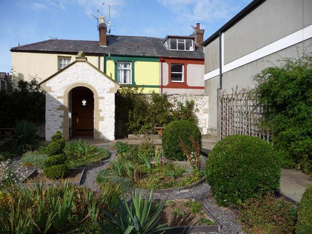 The Upper Terrace - gardens at Plas Mawr