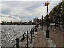 SJ8097 : Salford Quays, Central Wharf by David Dixon