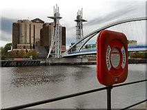 SJ8097 : Salford Quays, Quay West and the Lowry Bridge by David Dixon