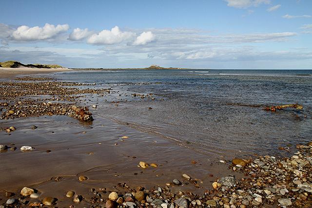 The shoreline at Ross Back Sands
