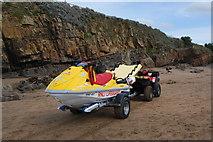 SS2006 : Lifeguard jet ski, Bude beach by hayley green