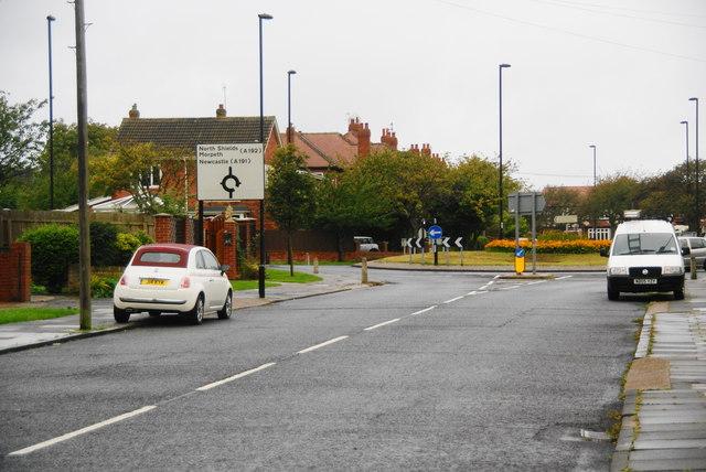 Roundabout on Monkseaton Drive