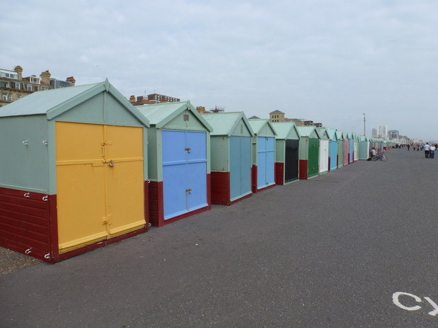Hove: the line of beach huts commences