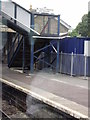 SX0754 : Modern Footbridge - Par Railway Station by Roy Hughes