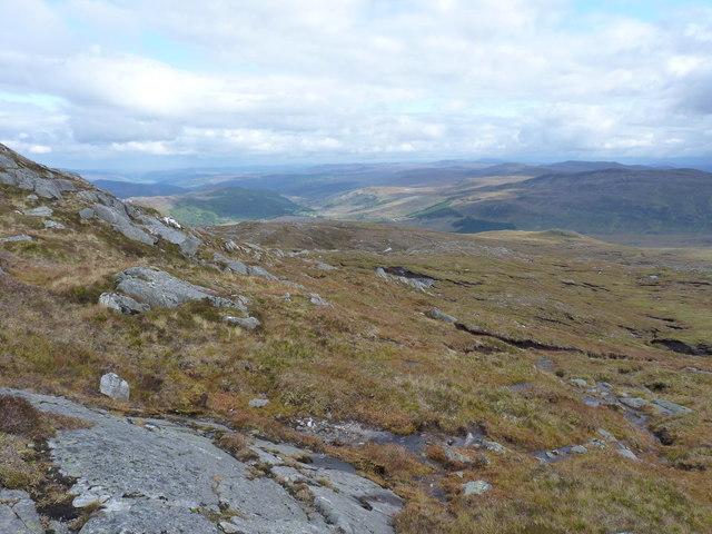 NNE from the end of the Carn nan Coireachean ridge