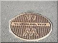 TQ3774 : Waterlink Way Path Symbol by David Anstiss