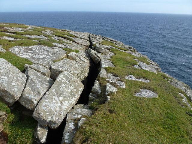 Cliff edge crevasse