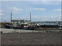 TQ8596 : Ship PZ 81 at North Fambridge Quay by PAUL FARMER