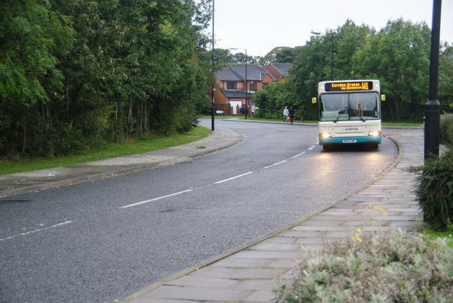 Bus on Newsteads Drive