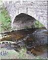 SK0068 : Arch of the bridge at Three Shires Head  by Robin Stott