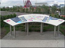 TQ3783 : Information Board facing the Olympic Park (1) by David Hillas