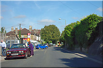 TQ4667 : Approaching the Royal Albert bus stop by Robin Webster