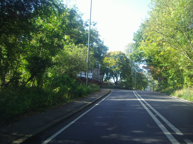 Brockley Hill by the junction of Wood Lane