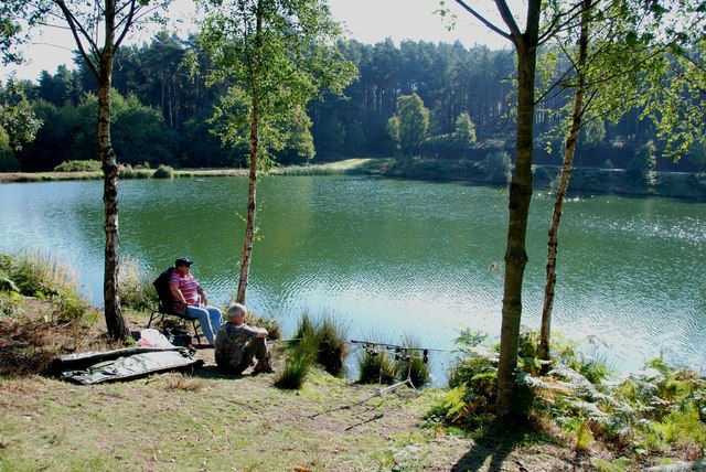 Fishing on Fairoak Lakes, Cannock Chase
