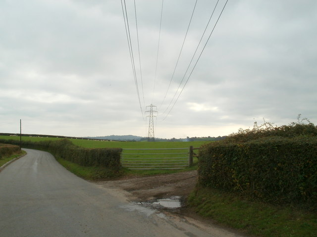 Power lines cross Tre-herbert Road