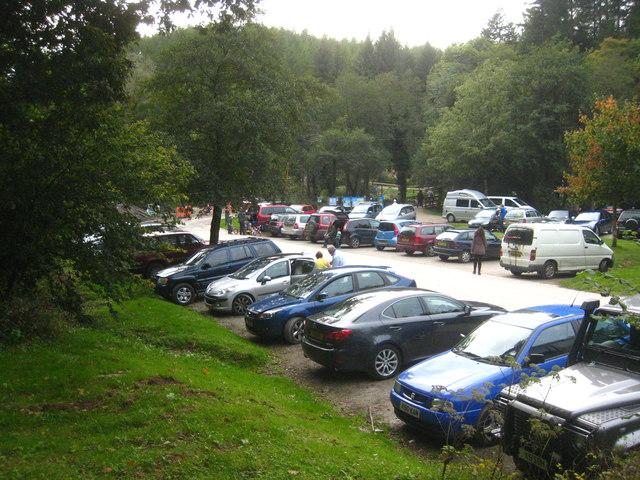 The car park at Cardinham Woods