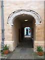 SH7877 : Passage through the gatehouse, Plas Mawr by Phil Champion
