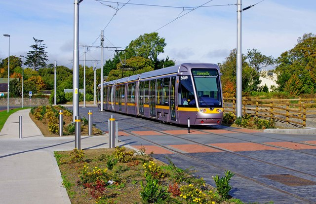 LUAS tram no. 3009 at Saggart, Dublin