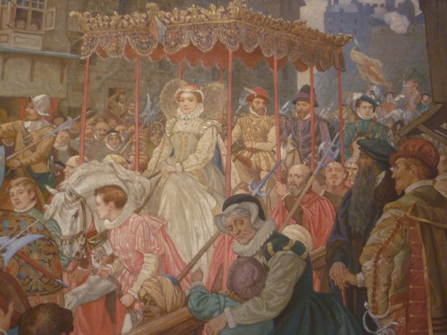 'Arrival of Mary Queen of Scots' detail